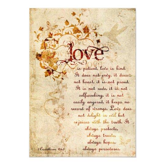 1 Corinthians 13 Wedding Invitations: KRW Corinthians Love Is: Wedding Invitation Ecru