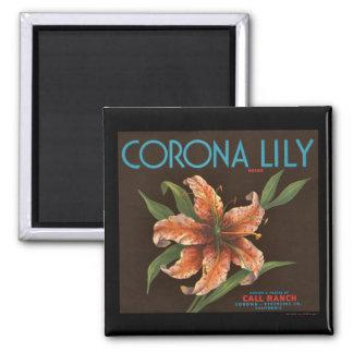 KRW Corona Lily Vintage Orange Crate Label Magnet