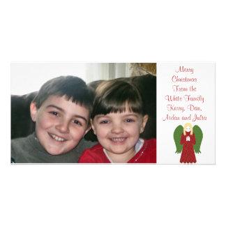 KRW Country Christmas Angel Custom Photo Card