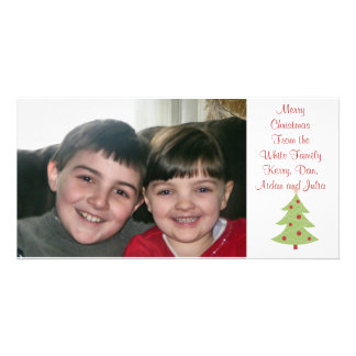 KRW Country Christmas Tree Custom Photo Card