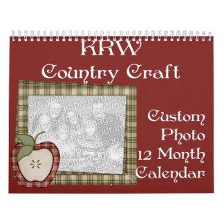 KRW Country Craft Custom Photo 2012 Calendar