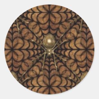 KRW Creepy Gold Spider Web Halloween Sticker