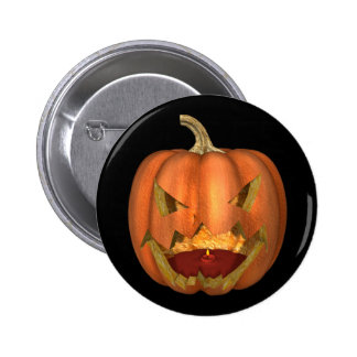 KRW Creepy Jack O Lantern Halloween Button