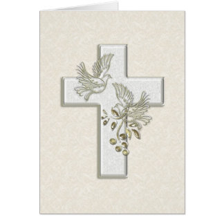 KRW Cross and Doves Card