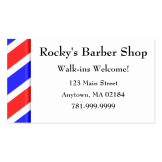 KRW Custom Barber Shop Appointment Double-Sided Standard Business Cards (Pack Of 100)