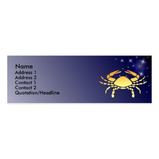 KRW Custom Cancer Zodiac Sign Profile Card Business Card Template