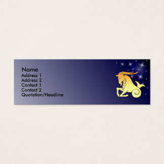 KRW Custom Capricorn Zodiac Sign Profile Card