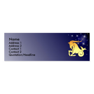 KRW Custom Capricorn Zodiac Sign Profile Card Double-Sided Mini Business Cards (Pack Of 20)