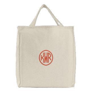 KRW Custom Circle Monogram in Orange Bags