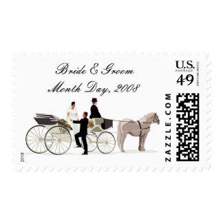 KRW Custom Elegant Horse Drawn Carriage Wedding Postage