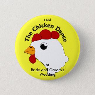 KRW Custom Funny Chicken Dance Wedding Pinback Button