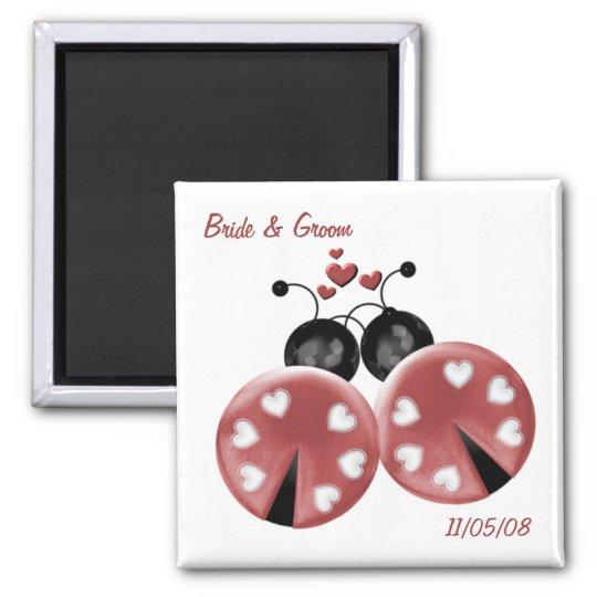 KRW Custom Love Bugs Wedding Favor Magnet