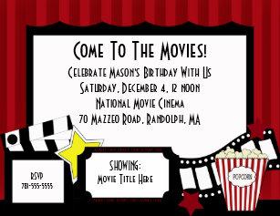 movie ticket birthday invitations zazzle