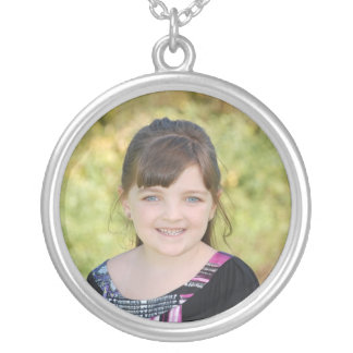 KRW Custom Photo Round Sterling Silver Necklace