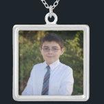 "KRW Custom Photo Square Sterling Silver Necklace<br><div class=""desc"">KRW Custom Photo Square Sterling Silver Necklace</div>"