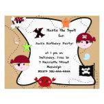 KRW Custom Pirate Birthday Party Custom Invitation