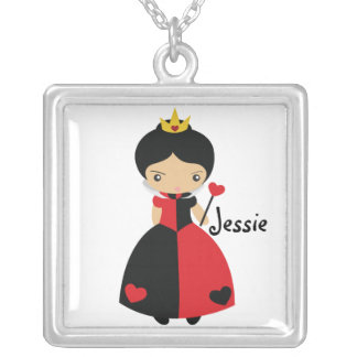 KRW Custom Queen of Hearts Silver Necklace