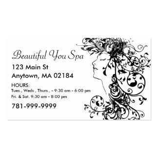 KRW Custom Salon or Spa Appointment Double-Sided Standard Business Cards (Pack Of 100)