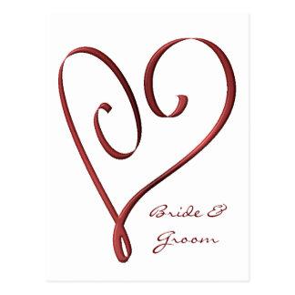 KRW Custom Stylized Red Heart RSVP Card Postcard