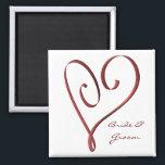 "KRW Custom Stylized Red Heart Wedding Favor Magnet<br><div class=""desc"">KRW Custom Stylized Red Heart Wedding Favor Magnet</div>"
