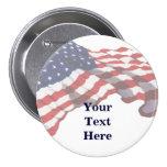 KRW Custom Text American Flag Pin