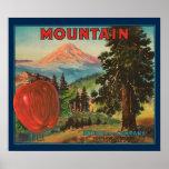 KRW CUSTOM Vintage Mountian Apple Fruit Crate Poster
