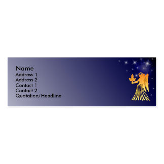 KRW Custom Virgo Zodiac Sign Profile Card Double-Sided Mini Business Cards (Pack Of 20)