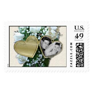 KRW Custom Wedding Photo Locket Postage Stamp