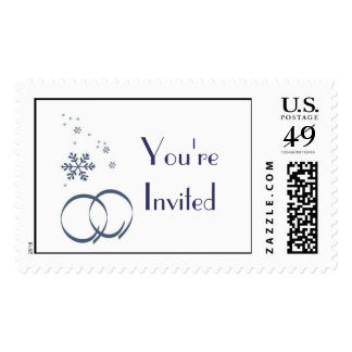 KRW Custom Winter Wedding Shower Stamp