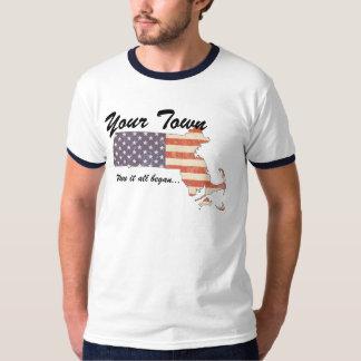 KRW Custom Your Town, MA Where It All Began Shirt