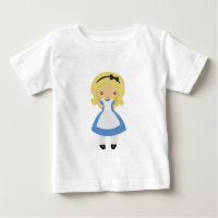 KRW Cute Alice in Wonderland Baby T-Shirt