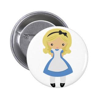 KRW Cute Alice in Wonderland Button