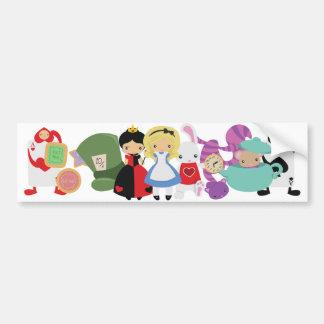 KRW Cute Alice in Wonderland Group Car Bumper Sticker