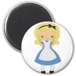 KRW Cute Alice in Wonderland Refrigerator Magnet