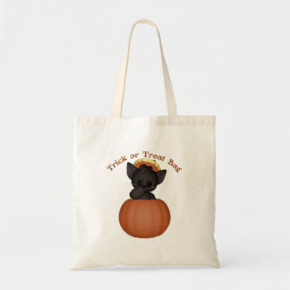 KRW Cute Black Kitten Halloween Trick or Treat Bag
