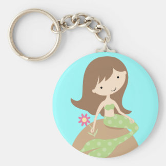 KRW Cute Blue Mermaid Keychain