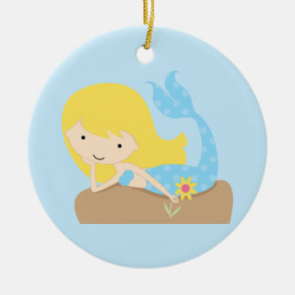 KRW Cute Blue Mermaid Ornament