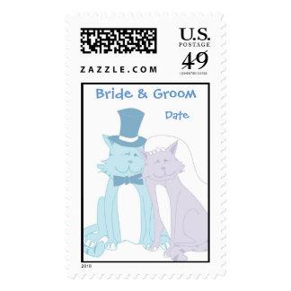 KRW Cute Cats Custom Wedding Stamp