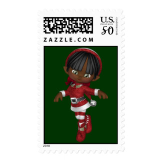 KRW Cute Christmas Elf Holiday Stamp