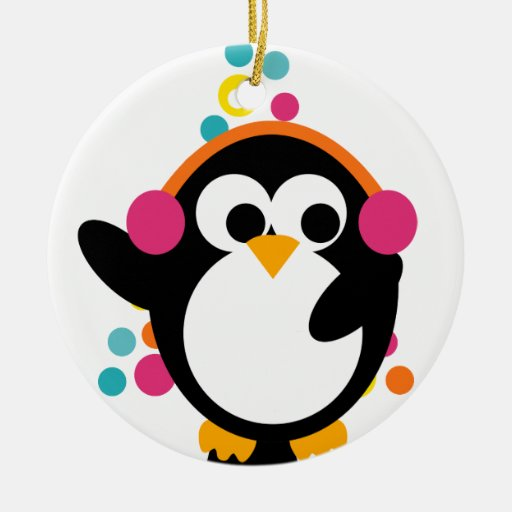 KRW Cute Colorful Penguin and Tree Ornament