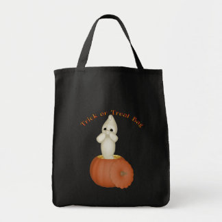 KRW Cute Ghost Reusable Halloween Trick or Treat Tote Bags