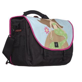 KRW Cute Green Mermaid Messenger Bag Laptop Bags