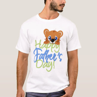 KRW Cute Happy Father's Day Tiger T-Shirt