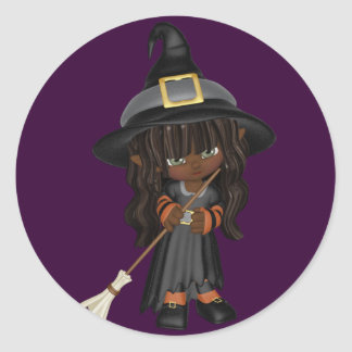 KRW Cute Lil AA Witch Halloween Sticker