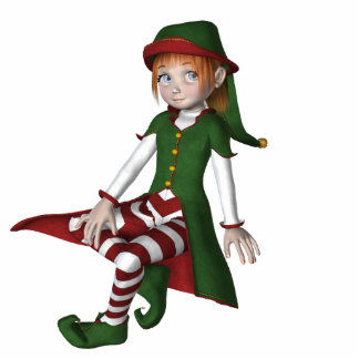 KRW Cute Little Elf Holiday Ornament