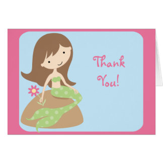 KRW Cute Mermaid Thank You Notes Stationery Note Card