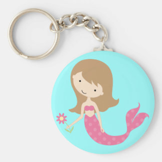 KRW Cute Pink Mermaid Keychain