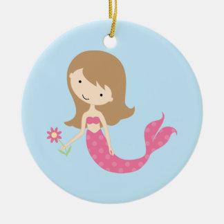 KRW Cute Pink Mermaid Ornament