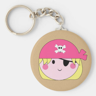 KRW Cute Pink Pirate Birthday Keychain