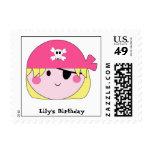 KRW Cute Pink Pirate Custom Stamp